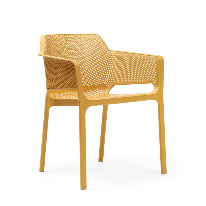 Net fauteuil van Nardi in senape