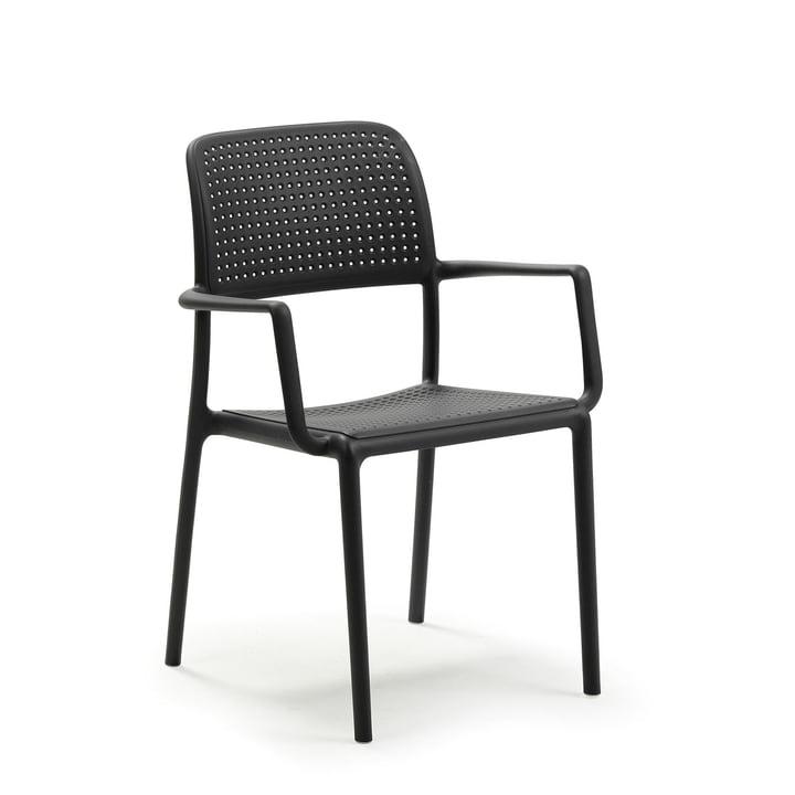 Bora fauteuil in antraciet van Nardi
