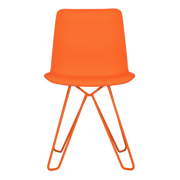 Herderstoel van objecten uit onze tijd in puur oranje