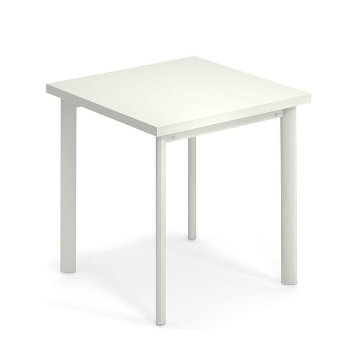 Sterrentafel H 75 cm, 70 x 70 cm in het wit door Emu.