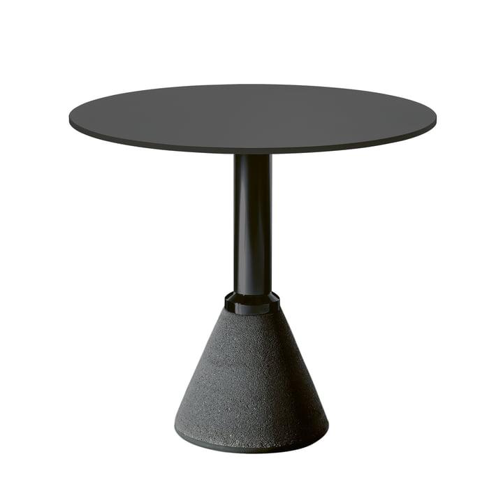 Tafel een Bistro Ø 79 cm in zwart/zwart door Magis