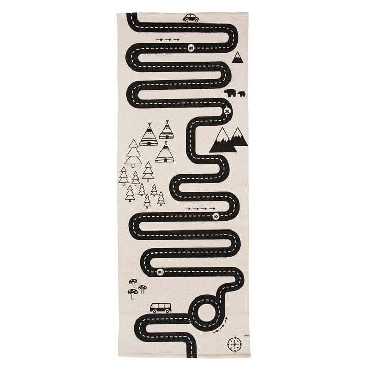 Avonturenspeeltapijt 180 x 70 cm van OYOYOY in zwart/wit