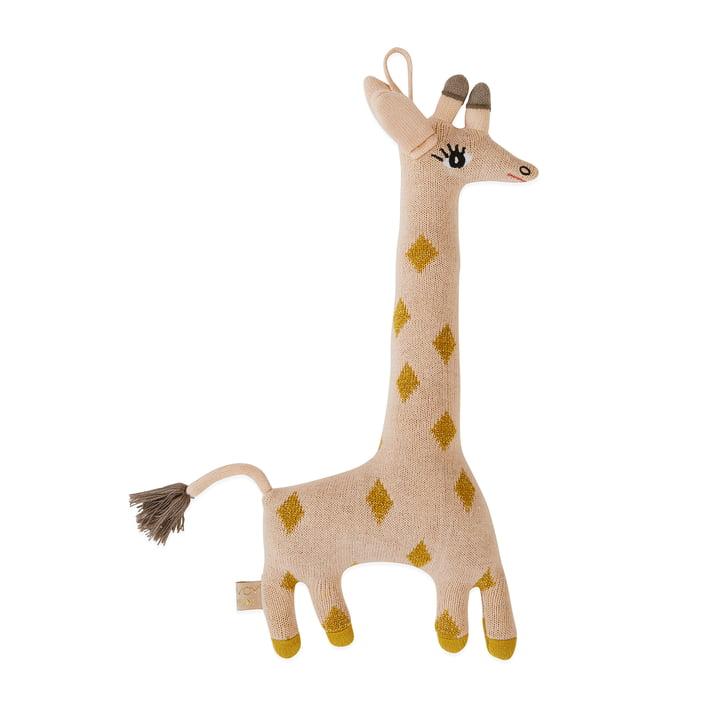 Gebreide knuffel Baby Giraffe Guggi van OYOY