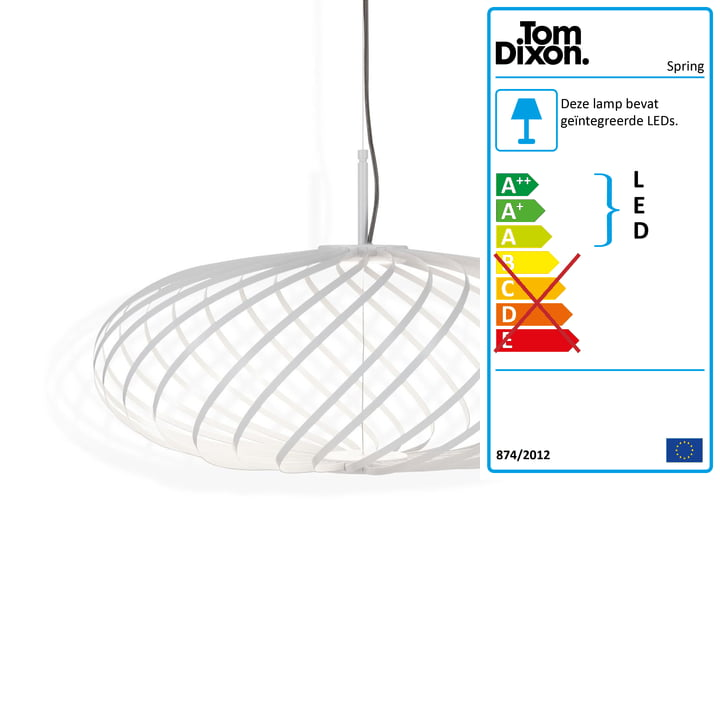 Lente hanglampje klein van Tom Dixon in het wit