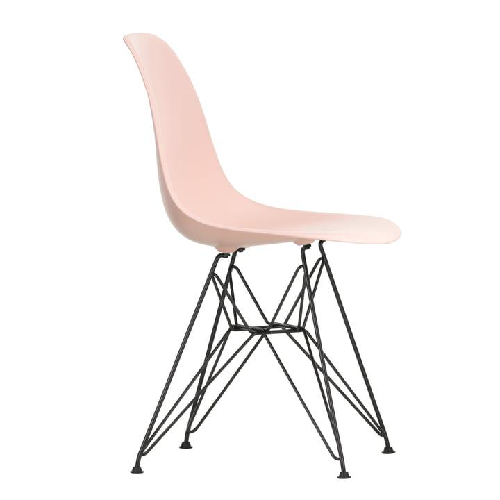 Eames Kunststof zijstoel DSR van Vitra in basic donker/zacht roze