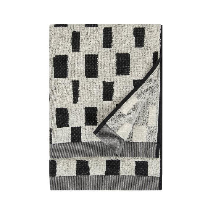Iso Noppa handdoek 50 x 100 cm van Marimekko in gebroken wit / zwart