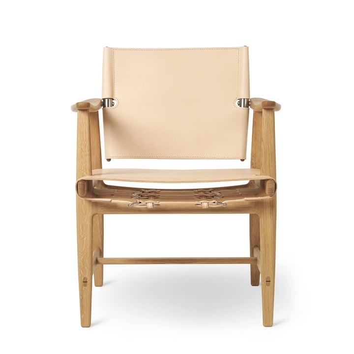 BM1160 Huntsman Chair, eiken geolied / natuurlijk zadelleder (roestvrij stalen fittingen) van Carl Hansen
