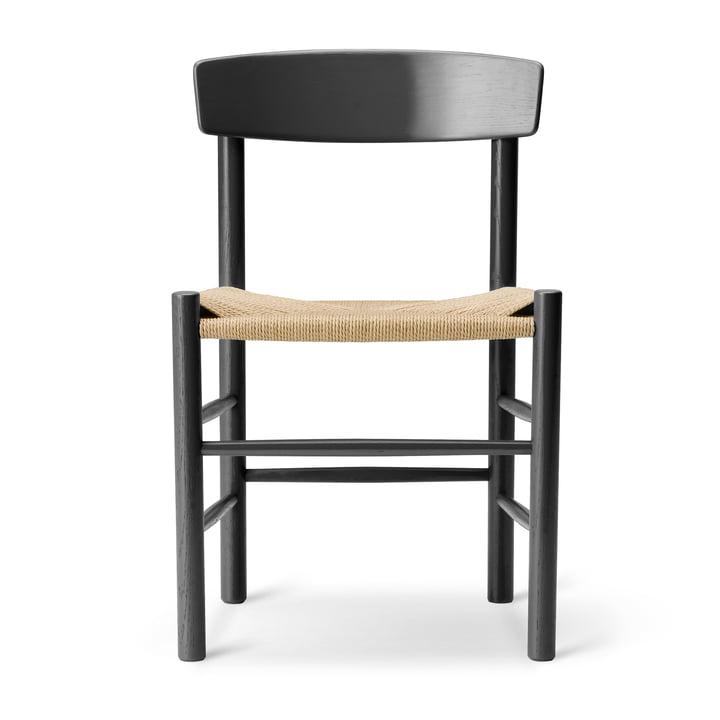J39 Mogensen stoel in eiken zwart gelakt / snaargeweven natuur van Fredericia