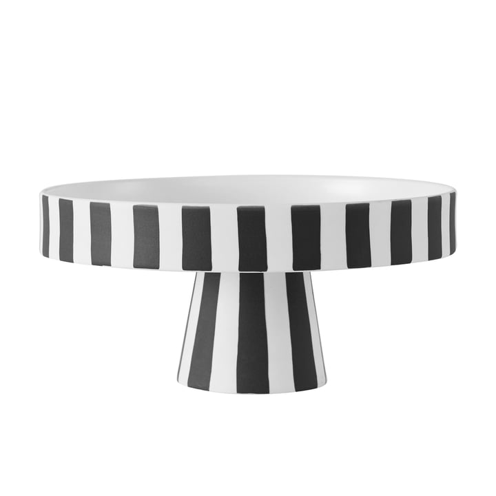 Toppu dienblad, Ø 20 x H 9 cm in zwart / wit van OYOY