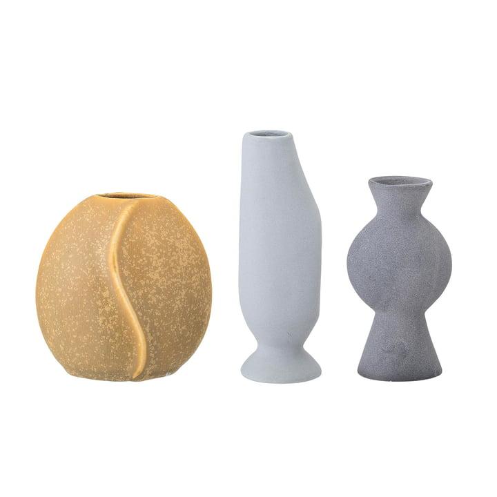 Aardewerk vaas van Bloomingville in meerdere kleuren (set van 3)