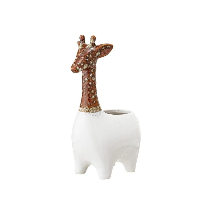 Aardewerk Planter Giraffe van Bloomingville in bruin / wit