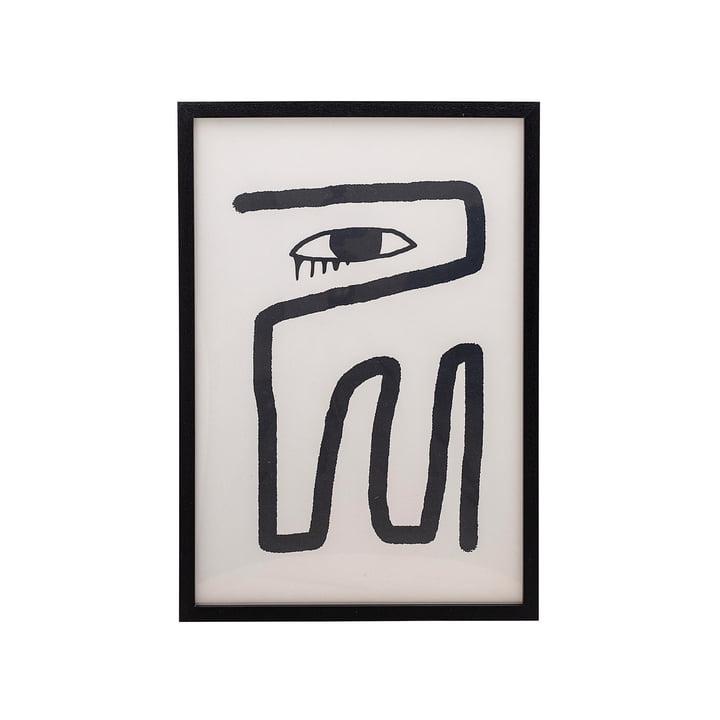 Ingelijste poster 45 x 65 cm Bloomingville zwart / wit