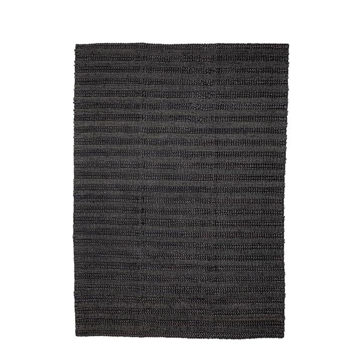 Natuurvezeltapijt 210 x 150 cm van Bloomingville in het zwart