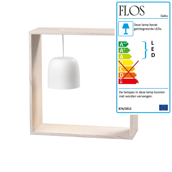 Gaku Wire Wire Battery Table Light (LED) van Flos in wit