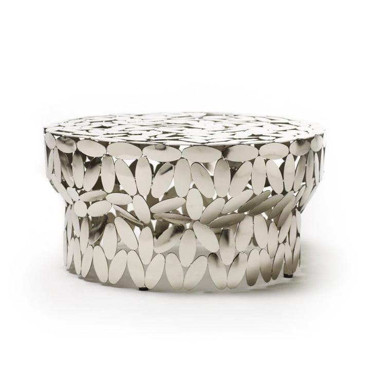 Foliae salontafel in nikkel van Opinion Ciatti