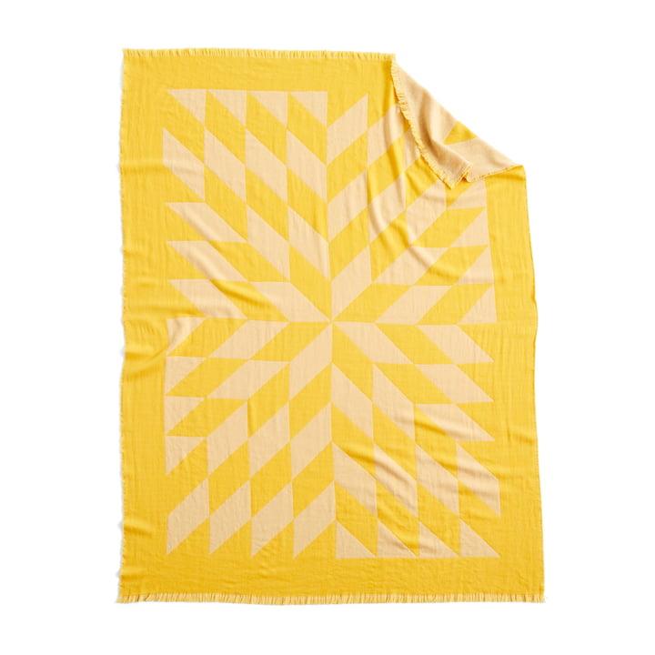Sterrendeken, 180 x 130 cm in geel van Hay