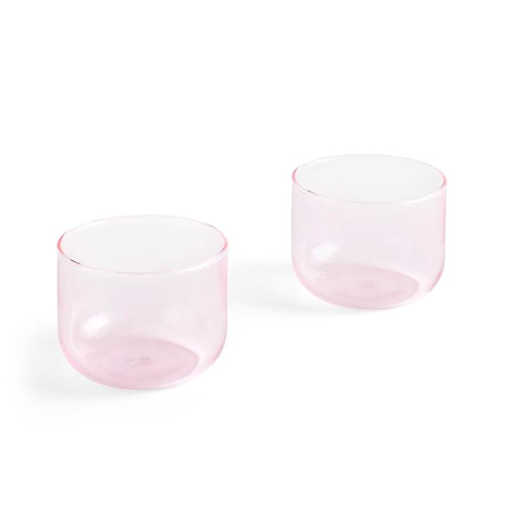 Tint drinkglas 200 ml in roze (set van 2) van Hay
