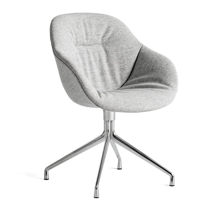 Over een stoel AAC 121 Zacht, gepolijst aluminium / Hallingdal 116 van Hay