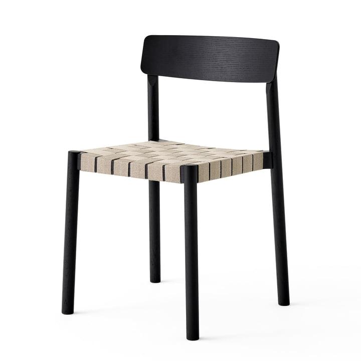 Betty TK1-stoel in zwart / natuur door & traditie