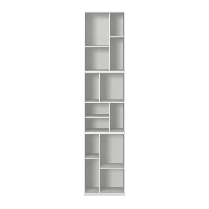 Weefgetouw boekenplank met voetstuk van Montana in nieuw wit