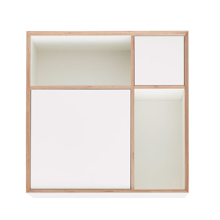 Vertiko Ply Sideboard One van Müller Möbelwerkstätten in CPL zuiver wit (RAL 9010)