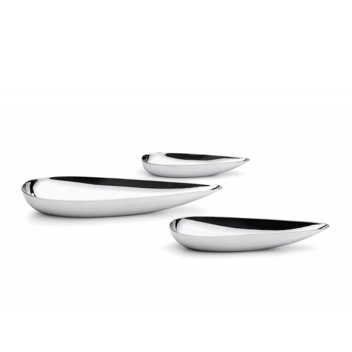 Blob bowls (set van 3) in roestvrij staal door Philippi