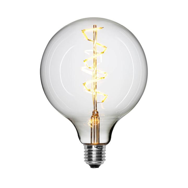 LED-spiraalvormige gloeilamp Ø 125 mm, E27 / 1,5 W, vrij van NUD-collectie.
