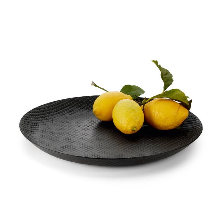 Outback tray Ø 37 cm, zwart van Philippi met fruit