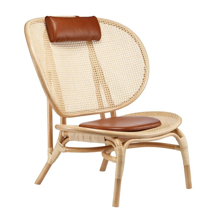 Nomad Lounge Chair van Norr11 in de natuur / cognac