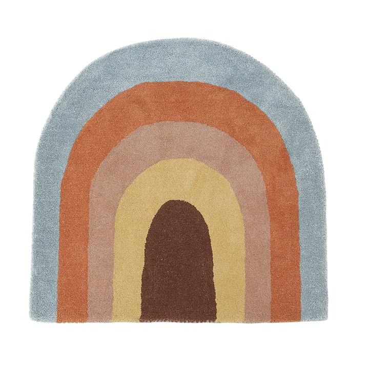 Kindertapijt 88 x 90 cm Regenboog van OYOY