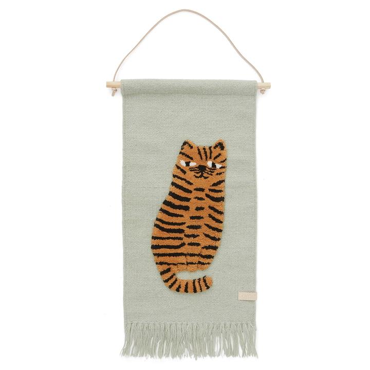 Kindertapijt met dierenmotief, tijger/groen van OYOYOY