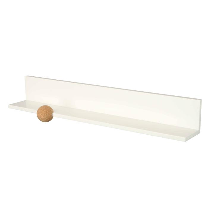 Rechte wandplank 60 cm van LoCa in het wit