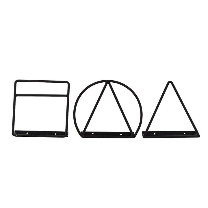 Huisarts - Lage tijdschriftenhouder, zwart (set van 3)