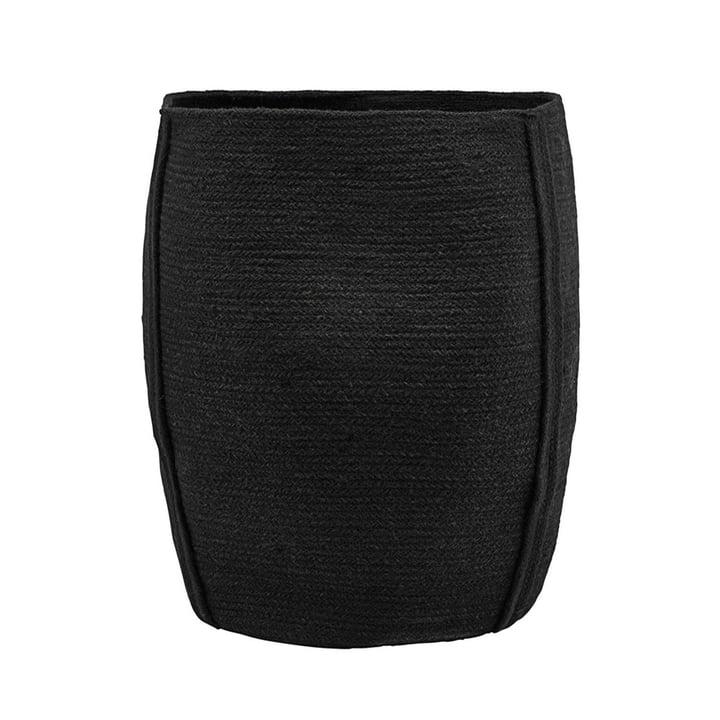 Trommelopbergmand Ø 40 x H 45 cm door huisarts in het zwart