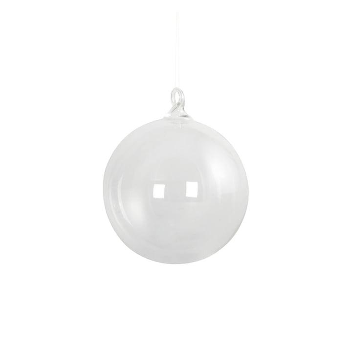 Glazen kerstboombol Ø 8 cm door Huisarts in helder