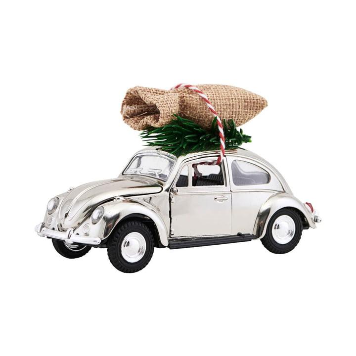 Xmas Cars Deco Cars 12,5 cm van Huisarts in Chroom