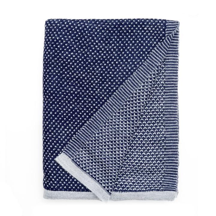 Regendruppels deken 130 x 180 cm van Elvang in koningsblauw