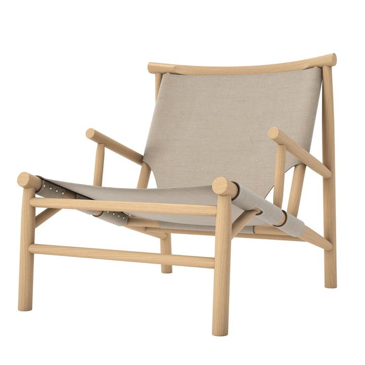 Samurai Lounge Chair van Norr11 in natuurlijk eiken / canvas
