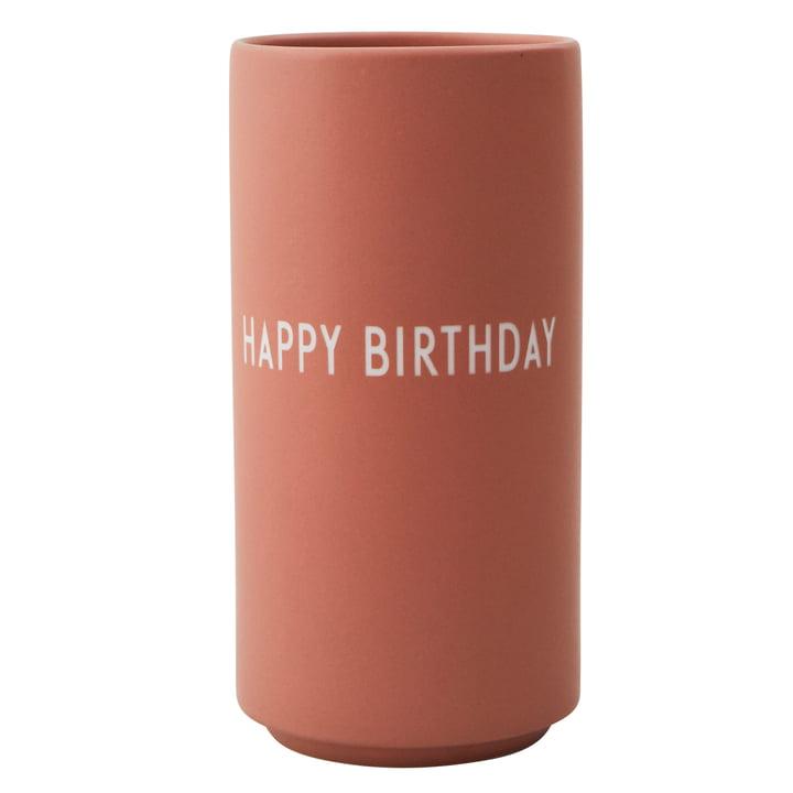 AJ Favoriete Porseleinen Vaas Gelukkige Verjaardag door Design Letters in naakt