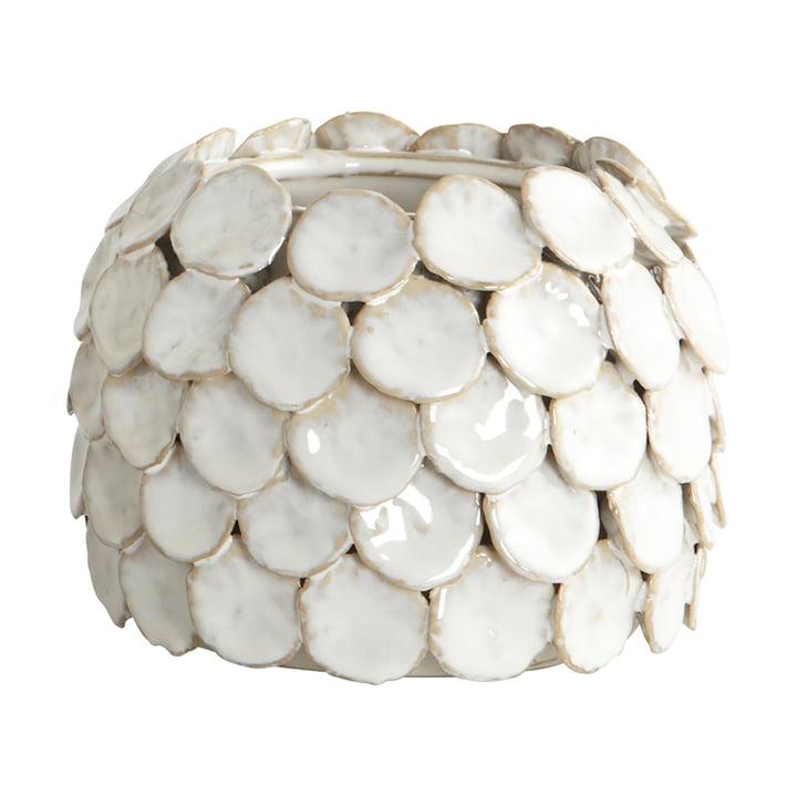 Stempelvaas H 10 cm van Huisarts in het wit
