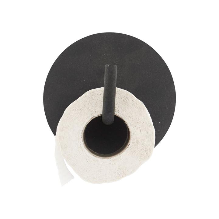 Toiletpapieren houder tekst, zwart van House Doctor