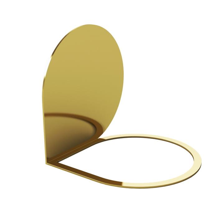 Stijl boekensteun 14 x 14 cm van AYTM in goud