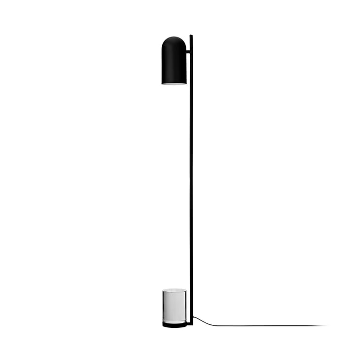 Luceo vloerlamp, Ø 12 x H 140 cm, zwart / transparant bij AYTM