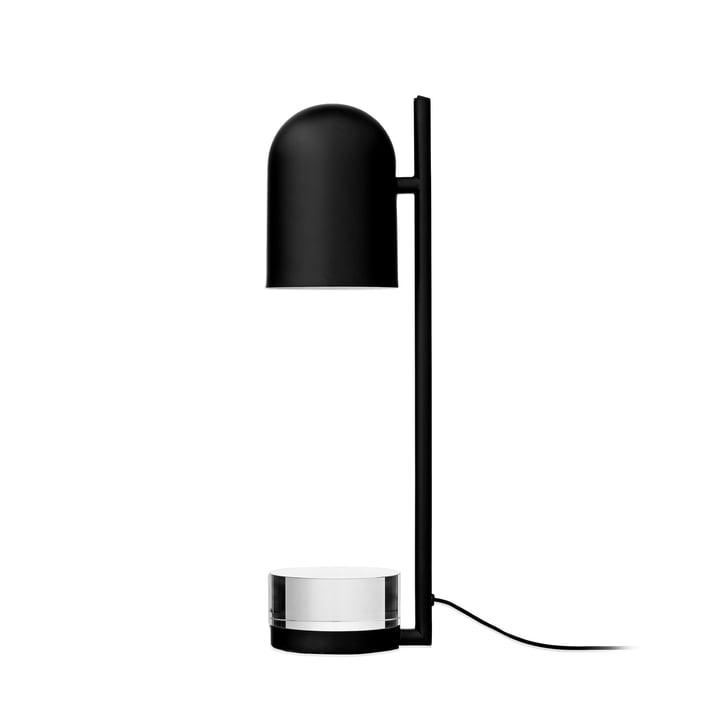 Luceo tafellamp, Ø 12 x H 50 cm, zwart / transparant door AYTM