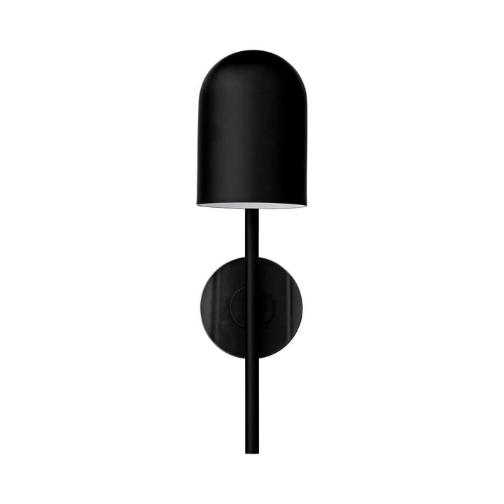 Luceo wandlamp, Ø 12 x H 45 cm, zwart / transparant bij AYTM