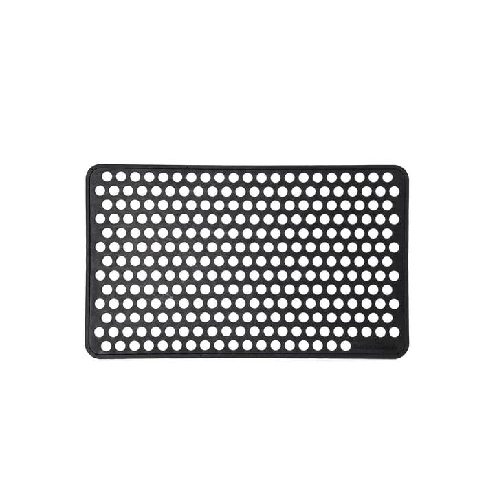 Rubberen voetmat 45 x 75 cm dot van tica copenhagen in zwart