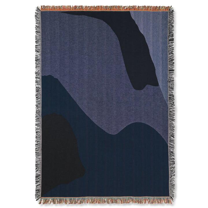 Uitzicht deken 120 x 170 cm van gist Leven in donkerblauw