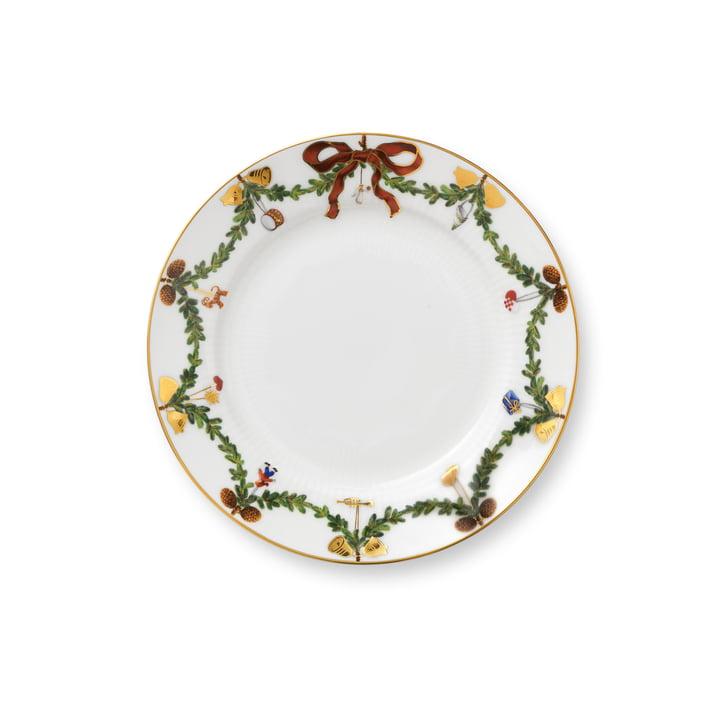 Sterrengeribbelde kerstontborstel Ø 19 cm van Royal Copenhagen