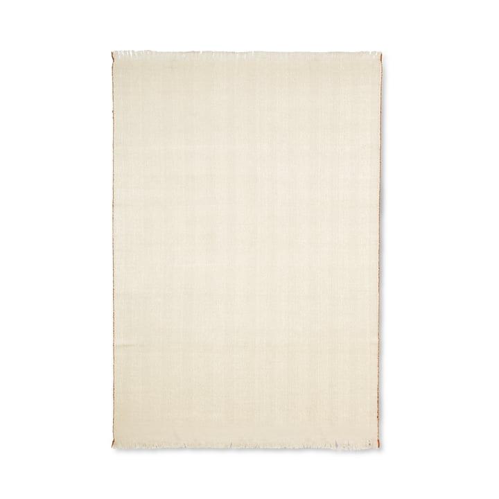Visgraatdeken 120 x 180 cm van ferm Leven in wit