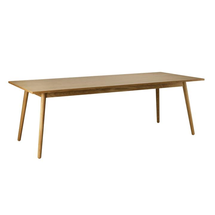 C35C Eettafel, 95 x 220 cm, eiken mat gelakt door FDB Møbler.